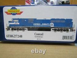Athearn Genesis G27240 Ho Conrail Sd80mac Dc, DCC Ready Rd# 4111