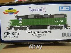 Athearn Genesis G65619 Burlington Northern Gp39-2 Tsunami2 DCC &sound, Dc, #2703