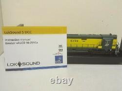 Chicago Northwestern Railroad ALCO C628 6724 Bowser Executive 24732 DCC LokSound