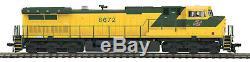 HO MTH Chicago Northwestern Dash-9 Diesel for 2 Rail DC withDCC & Sound 80-2295-1