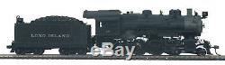 HO MTH Die-Cast Long Island H-10 2-8-0 2 Rail DC withDCC, Sound, Smoke 80-3244-1