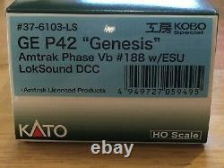 Kato 37-6103-LS HO Scale Locomotive GE P42 Phase Vb #188 ESU LOKSOUND DCC NEW