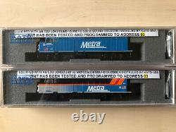 Kato N scale Metra F40PH factory installed LokSound DCC and sound