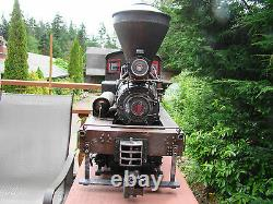 Logging Shay Locomotive custom weathered 4 Trucks, DCC, smoke, sound, lights