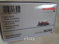Märklin Diesellokomotive Digital Köf III 36345 DB purpurrot mfx+ DCC Sound OVP